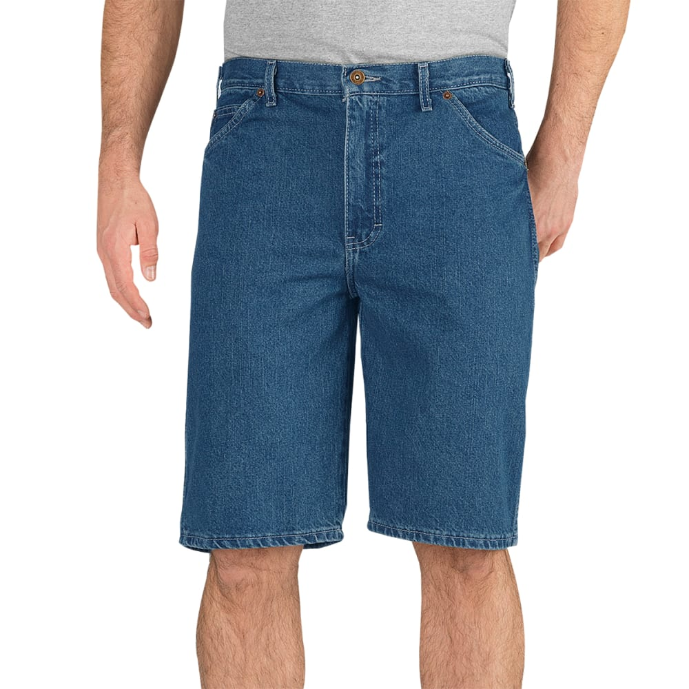 DICKIES Men's Regular Fit Denim Shorts - SNB STONEWASH