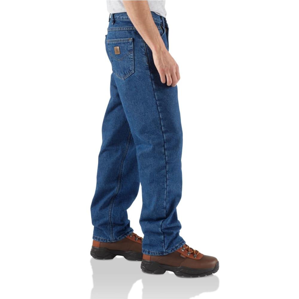 CARHARTT Men's Straight Leg Fleece Lined Relaxed Jeans - DST DARK STONE