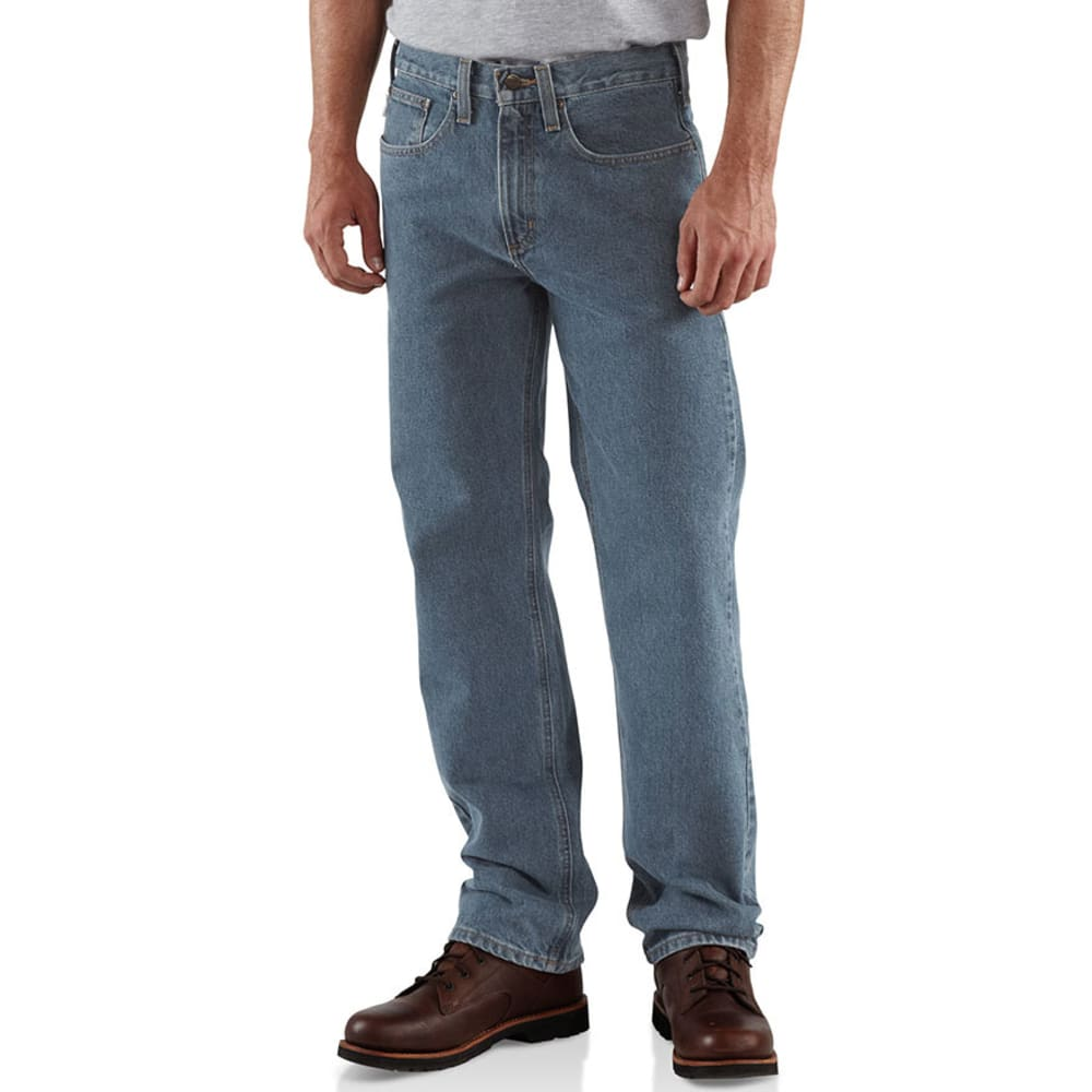 CARHARTT Men's Traditional Denim 5 Pocket Boot Cut Jeans, Extended sizes - DEEP STONE