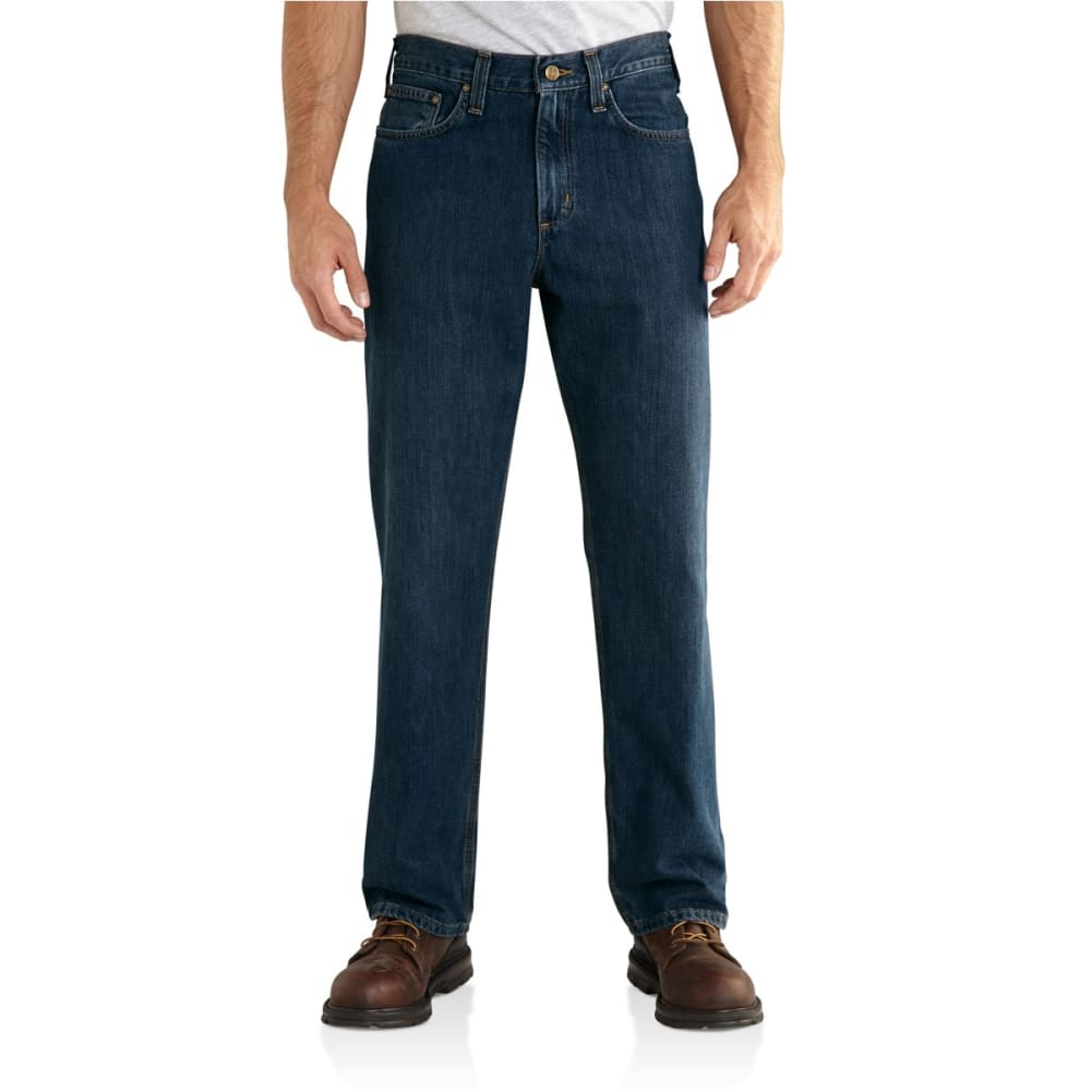 CARHARTT Men's Relaxed Fit Holter Jeans - FRONTIER BLUE 980