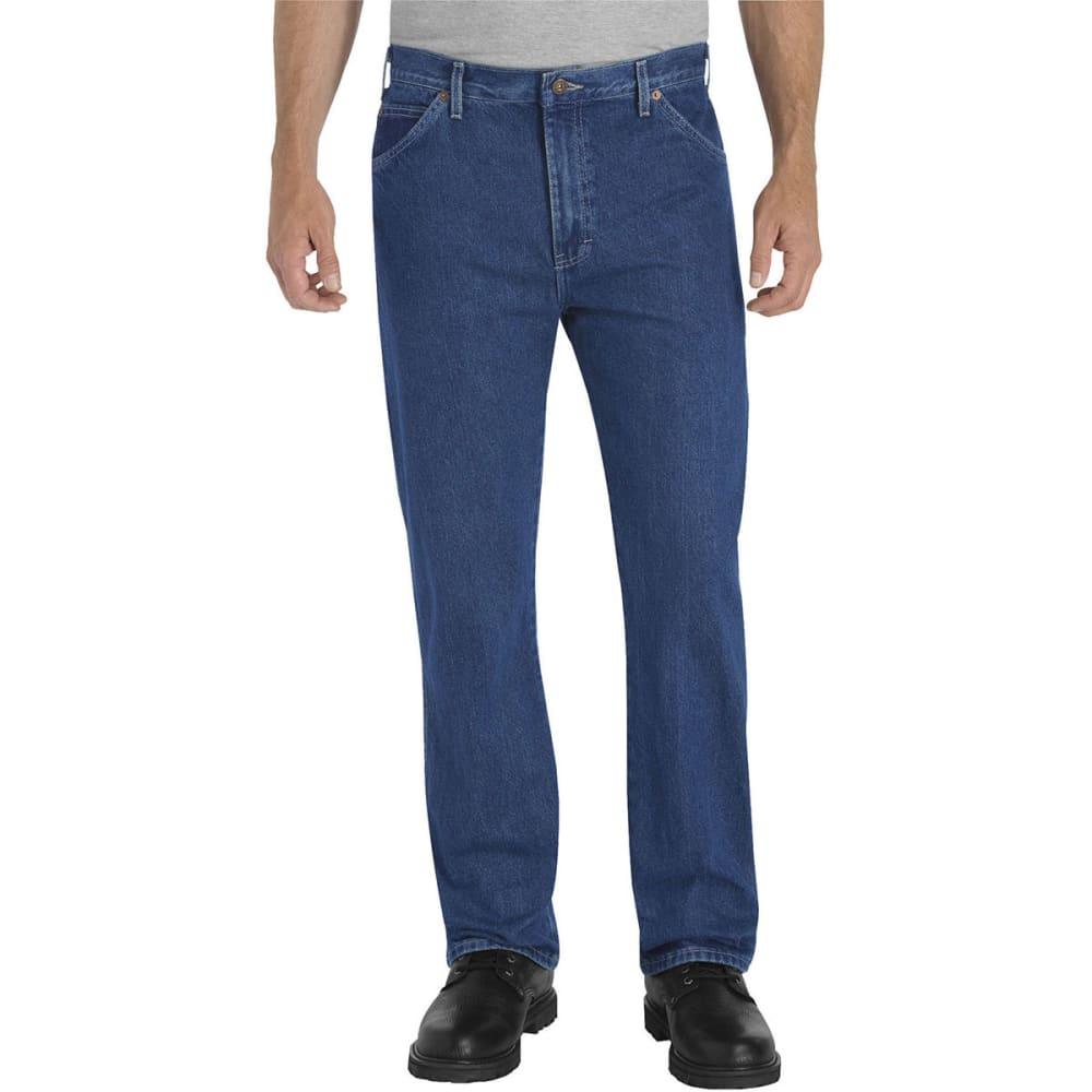 DICKIES Men's 6-Pocket Regular Fit Work Jeans - STONEWASH