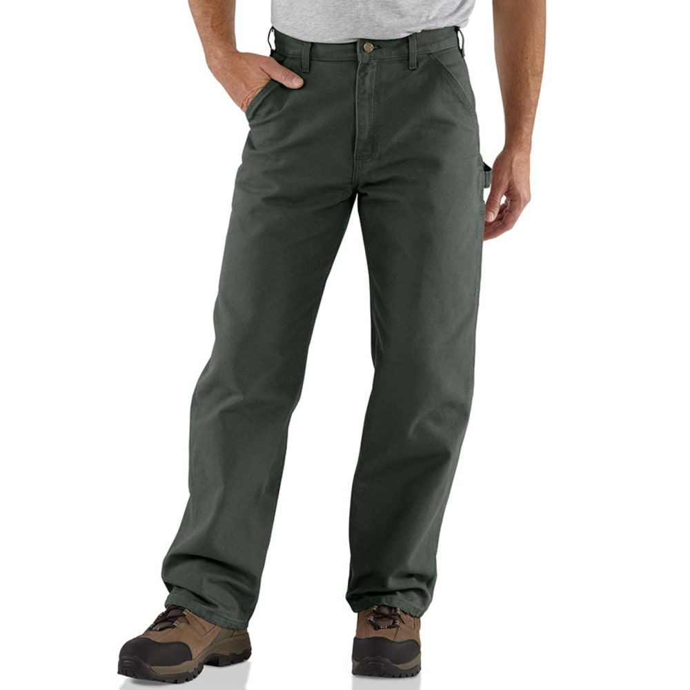 CARHARTT Men's Washed Duck Work Dungarees - MOSS MOS