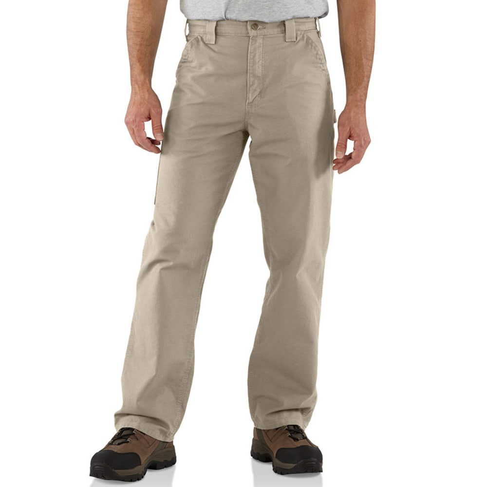 CARHARTT Men's Canvas Utility Work Pants - TAN