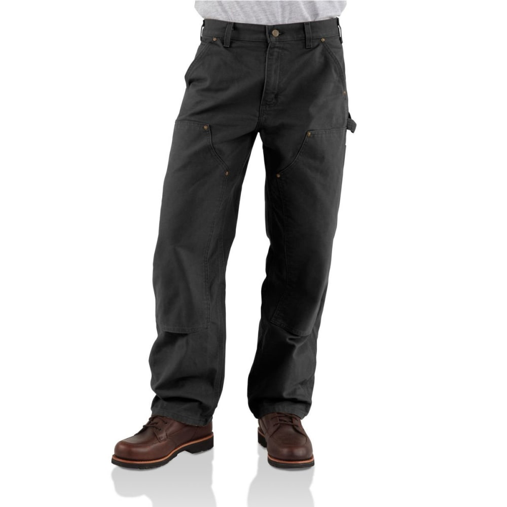 CARHARTT Men's Washed-Duck Double-Front Work Dungarees - BLK BLACK