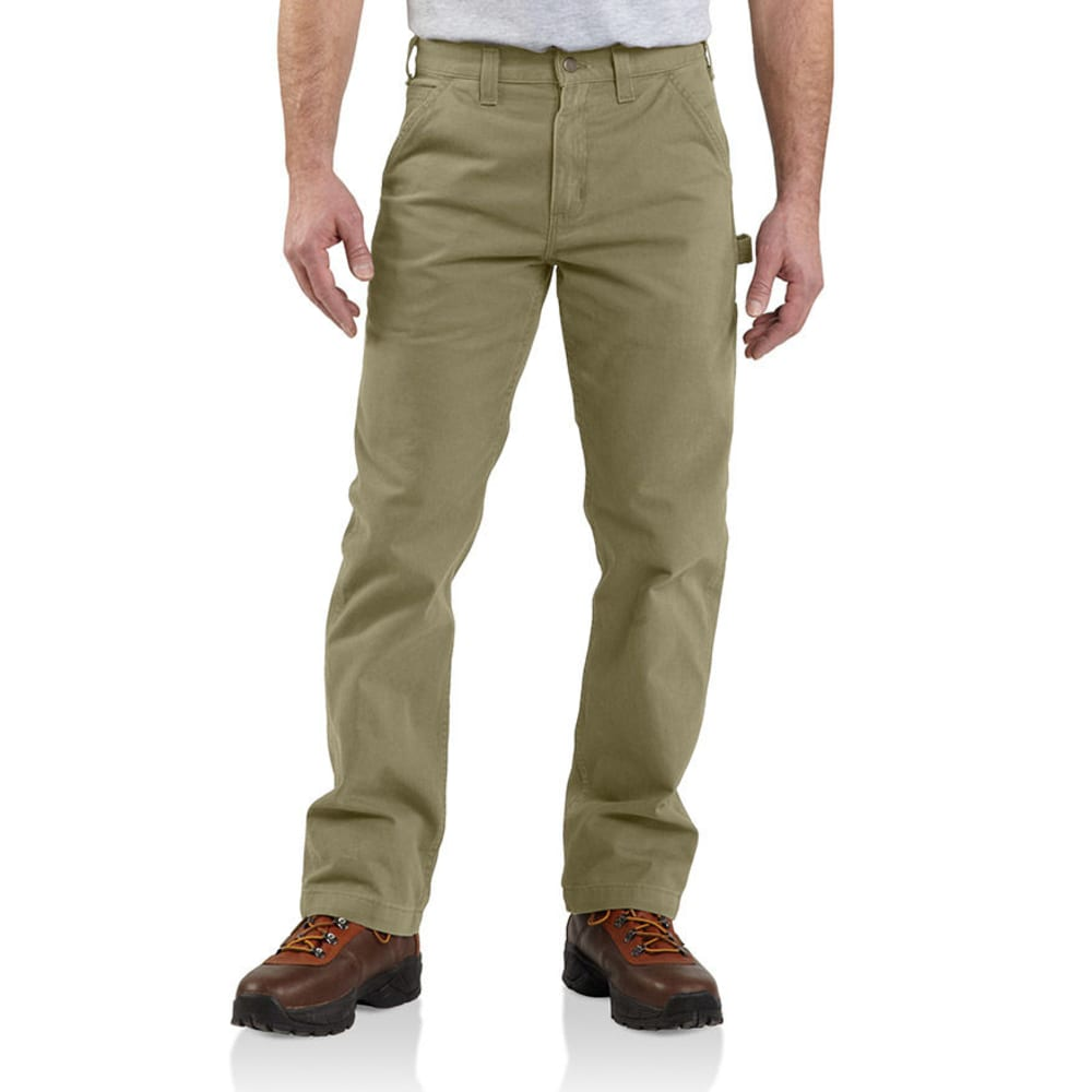 CARHARTT Men's Washed Twill Relaxed Fit Work Pants - DKH DARK KHAKI