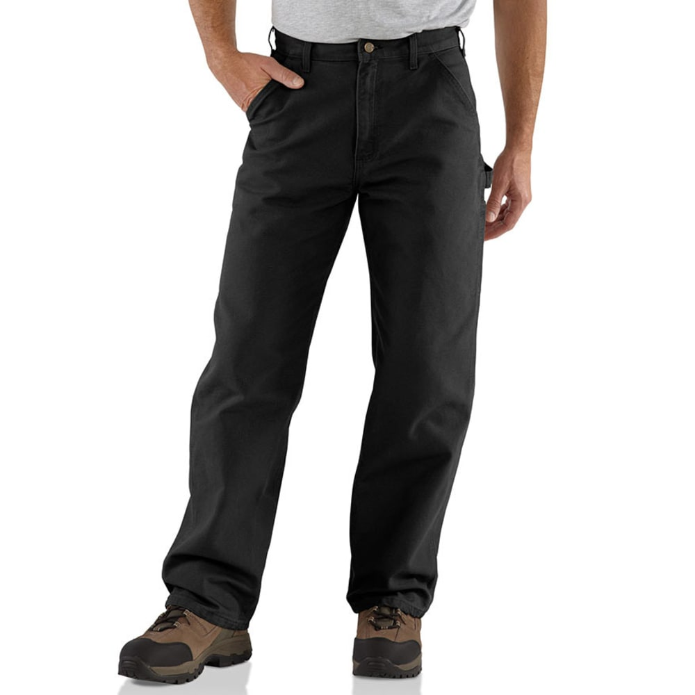 CARHARTT Men's Washed Duck Work Dungarees, Extended sizes - BLACK