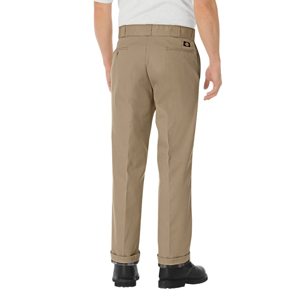 DICKIES Men's Relaxed Fit Flannel-Lined Work Pants - KHAKI