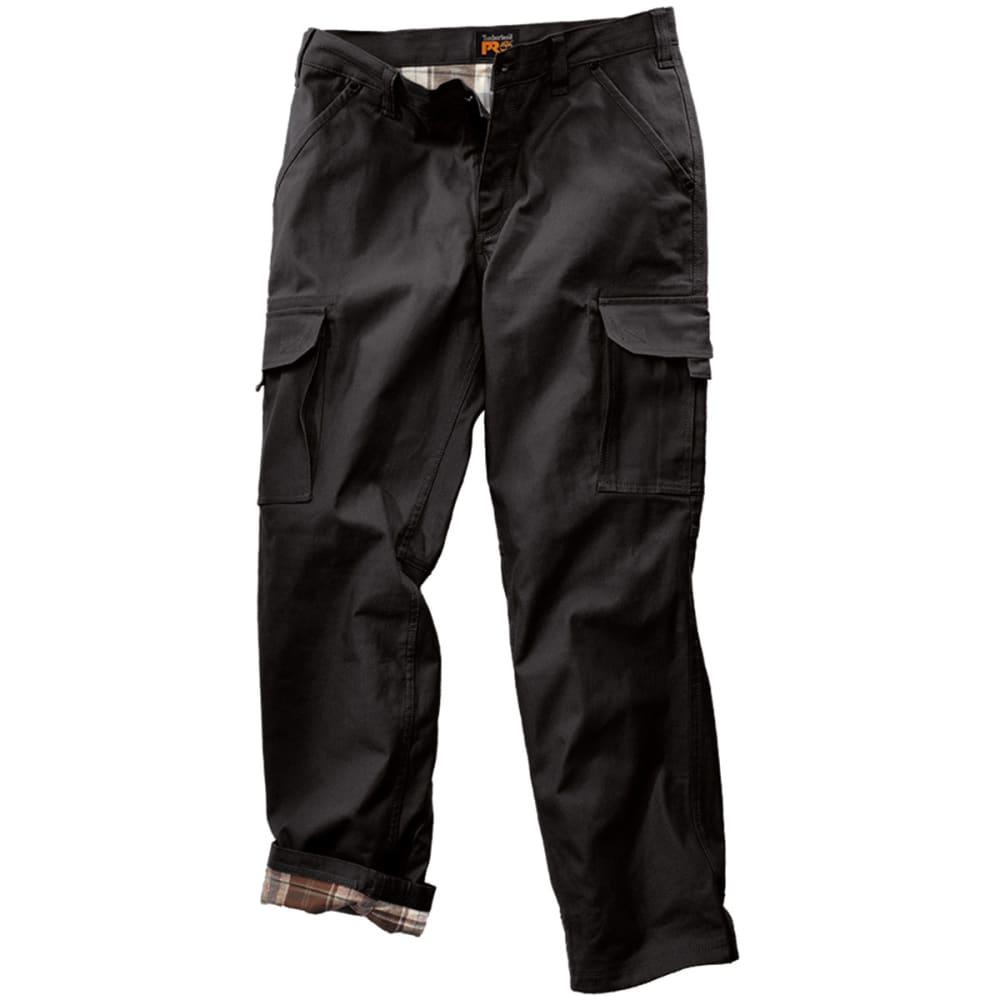 TIMBERLAND PRO Men's Gridflex Flannel Lined Canvas Work Pants - BLACK 015