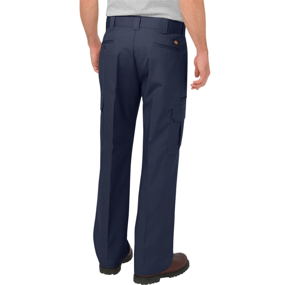DICKIES Men's Relaxed Fit Straight Leg Cargo Work Pants - DARK NAVY