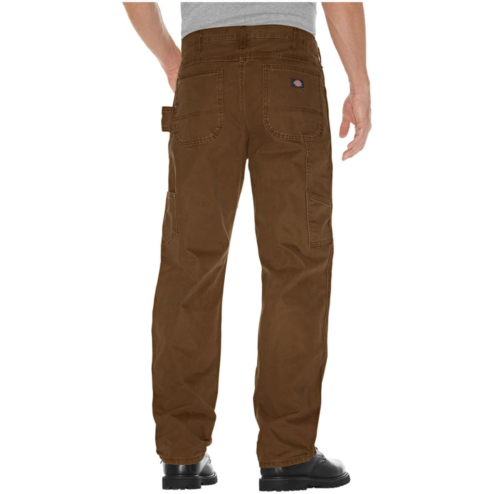 DICKIES Men's Relaxed Fit Sanded Duck Carpenter Jean - RTB TIMBER