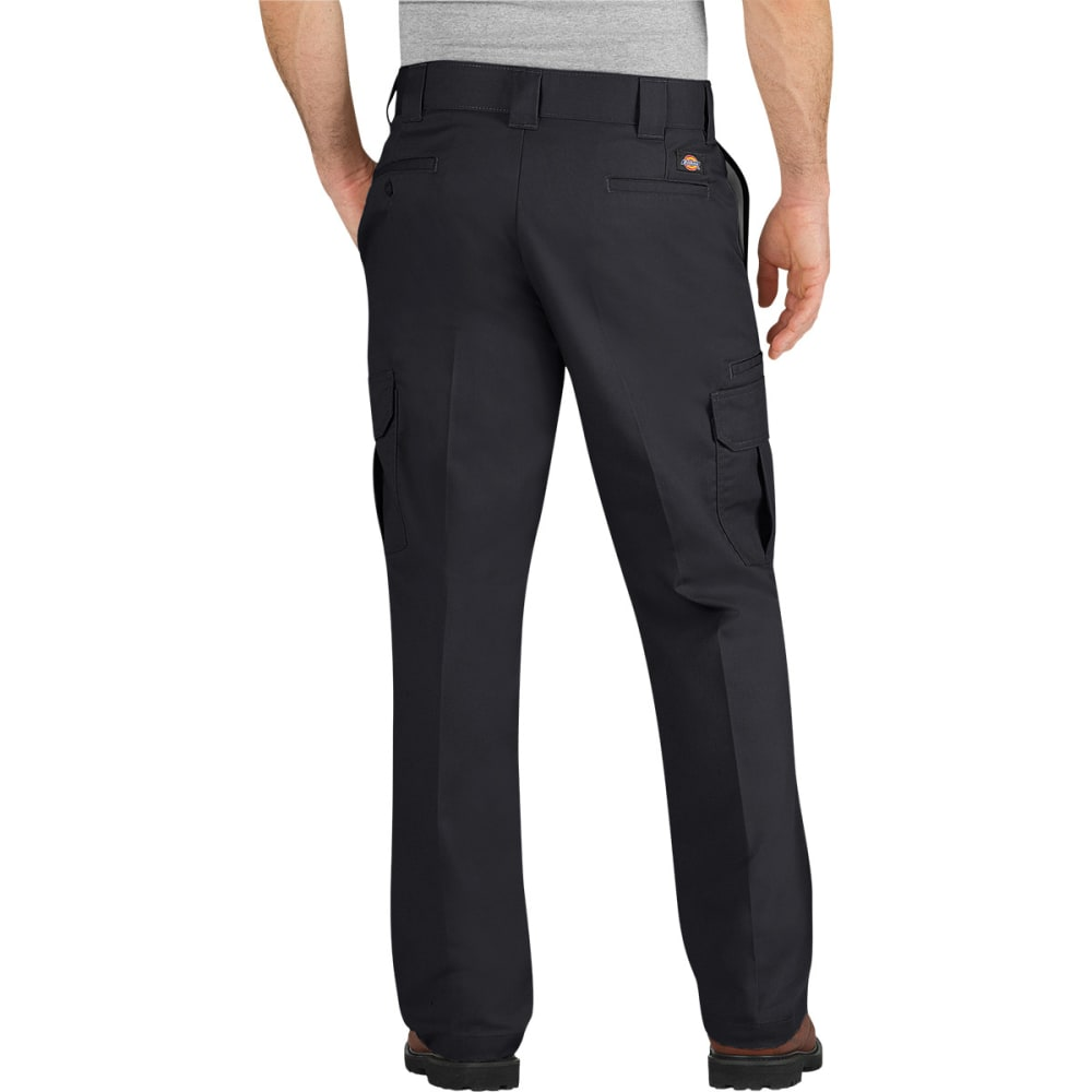 DICKIES Men's Flex Regular Fit Straight Leg Cargo Pants - BLACK