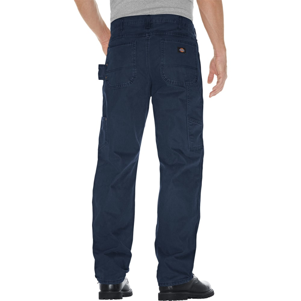 DICKIES Men's Sanded Duck Canvas Carpenter Jeans - NAVY