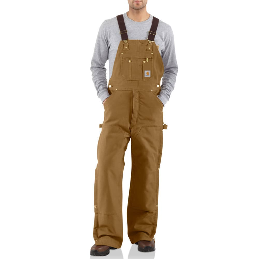 CARHARTT Men's Quilt-lined Cotton Duck Bib Overalls, Extended sizes 48/30
