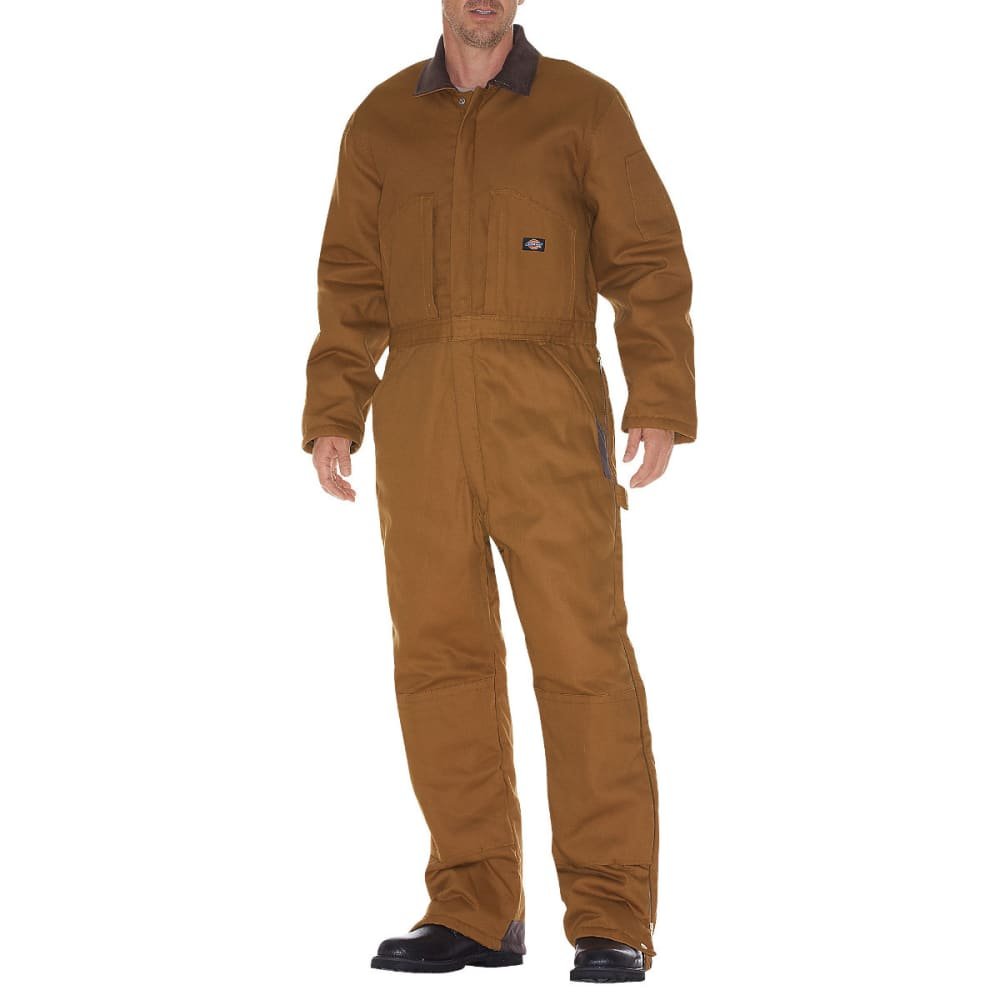 DICKIES Men's Duck Insulated Coverall - SMOKEY BROWN/OLIVE