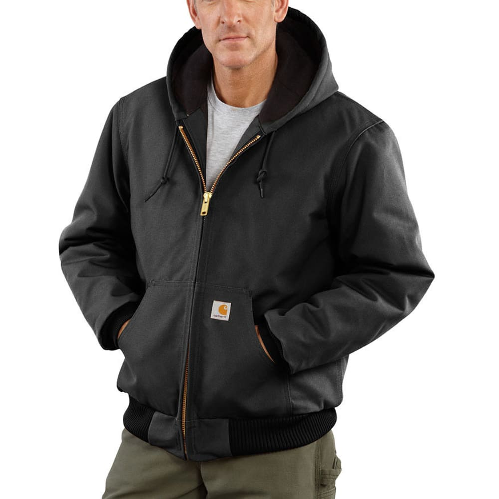 CARHARTT Men's Duck Active Quilt Lined Jacket - BLACK