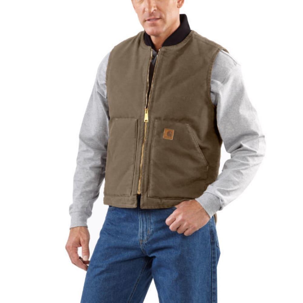 CARHARTT Men's Sandstone Arctic Quilt-Lined Vest - 211 C BROWN