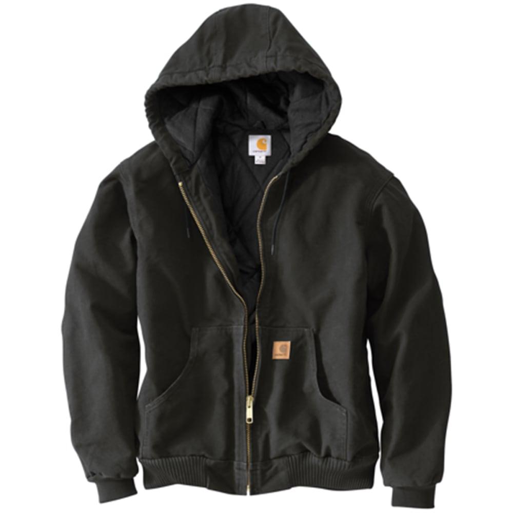 CARHARTT Men's Sandstone Duck Jacket - BLACK