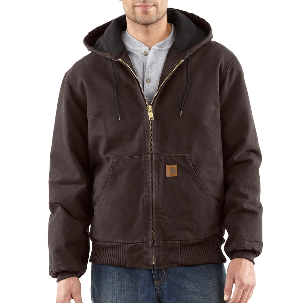 CARHARTT Men's Sandstone Duck Jacket - DARK BROWN