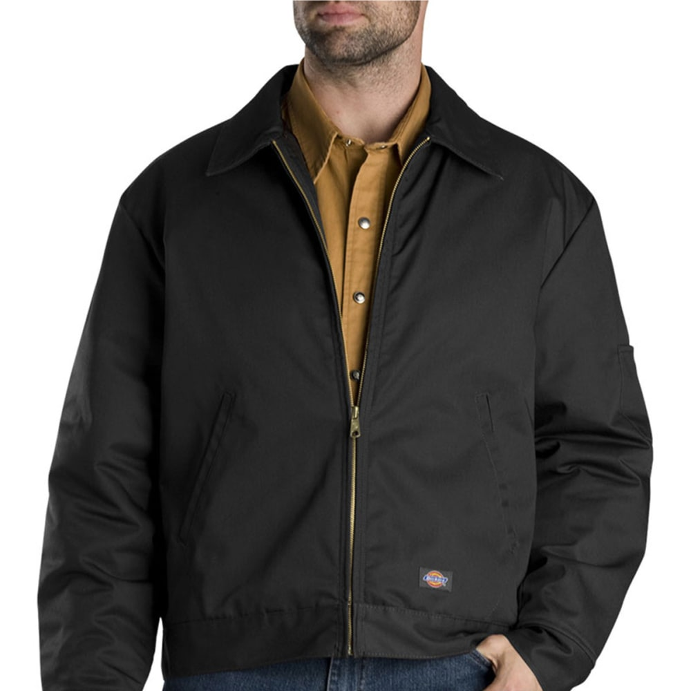 DICKIES Men's Lined Eisenhower Jacket - BLACK