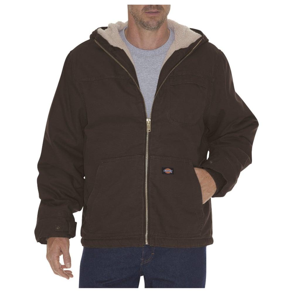 Dickies Men's Tj350 Sanded Duck Sherpa Lined Hooded Jacket - Brown TJ350