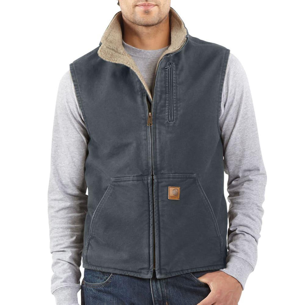 CARHARTT Men's Sandstone Sherpa Lined Vest - GVL GRAVEL