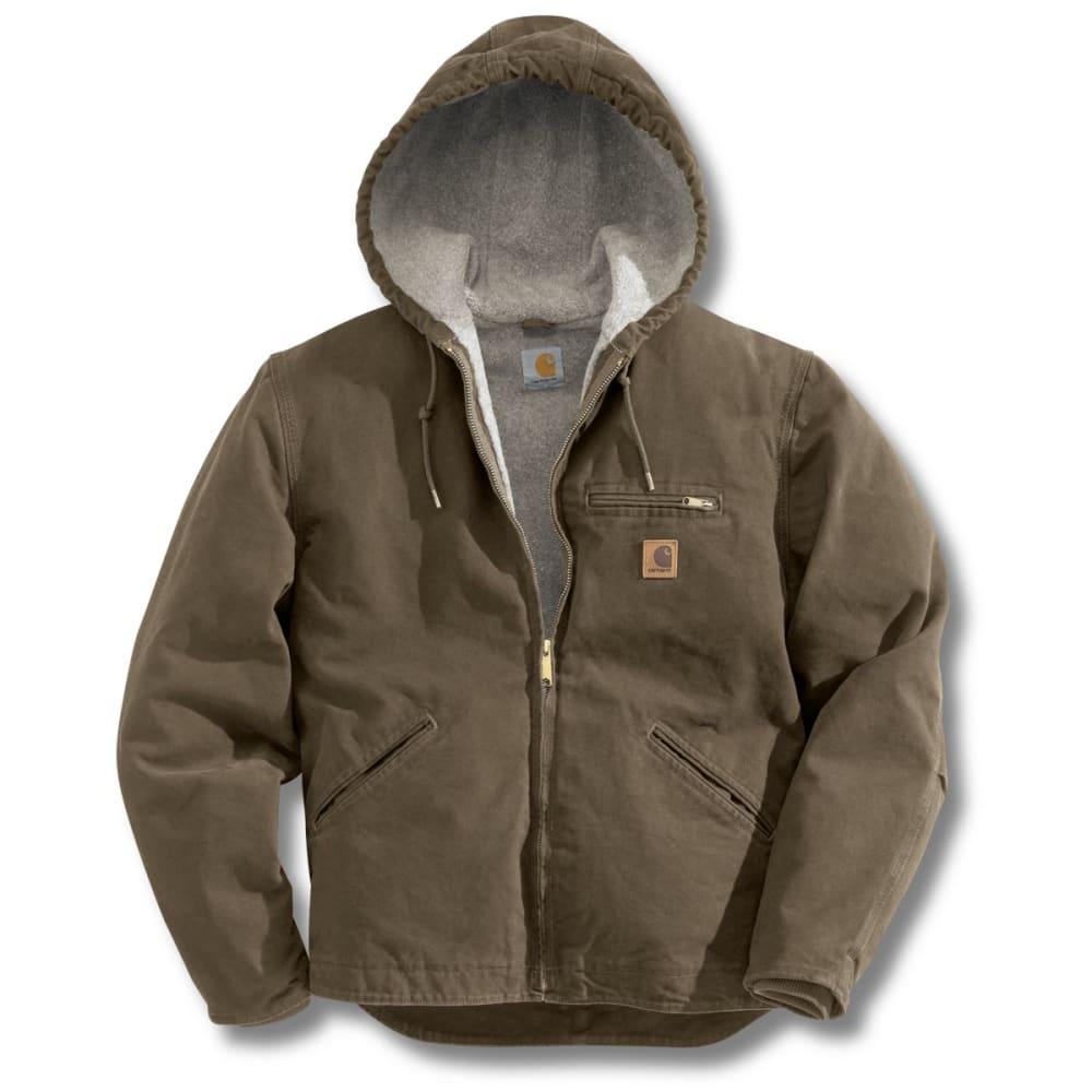 CARHARTT Men's Sandstone Sierra Sherpa Lined Hooded Jacket - ALGAE