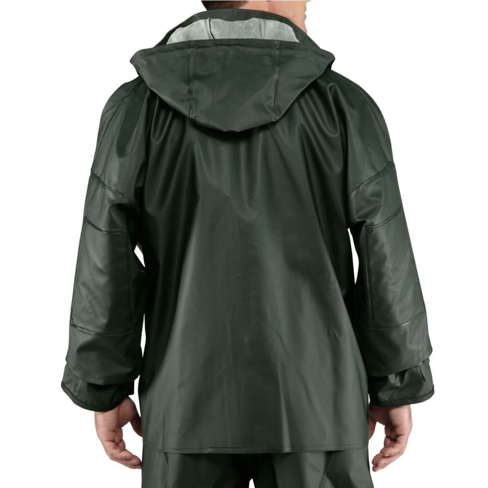 CARHARTT Men's Surrey PVC Rain Coat - GREEN 300