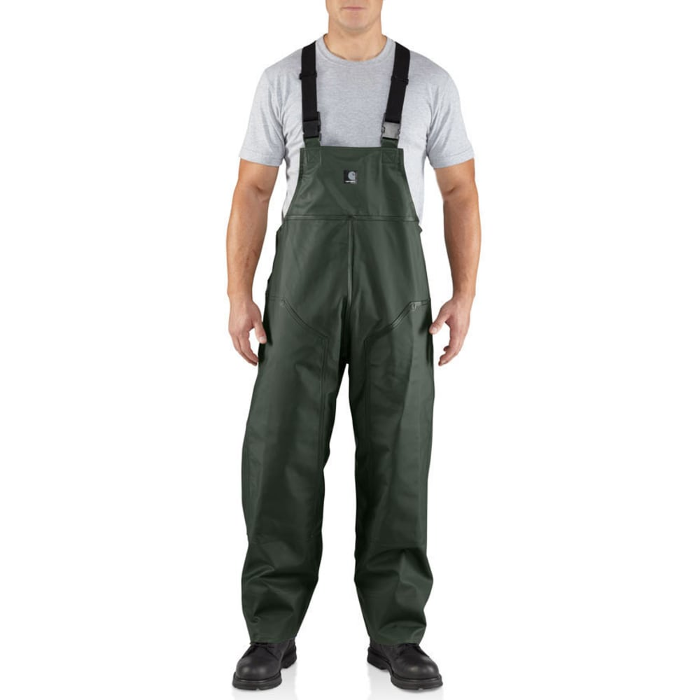 CARHARTT Men's Surrey PVC R39 Rain Bib - GREEN 300