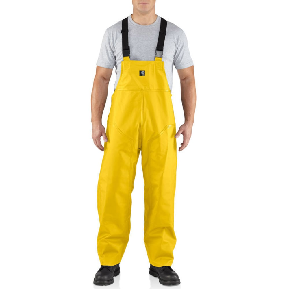 CARHARTT Men's Surrey PVC R39 Rain Bib - YELLOW 701
