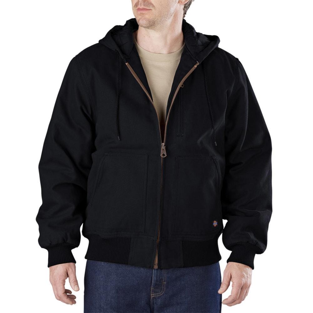 Dickies Men's Sanded Duck Hooded Jacket - Black TJ245