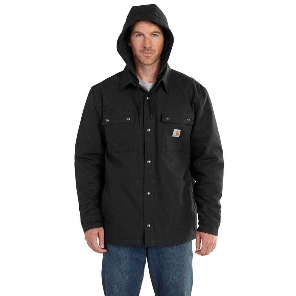 CARHARTT Men's Quick Duck Roane Hooded Shirt Jac - BLACK