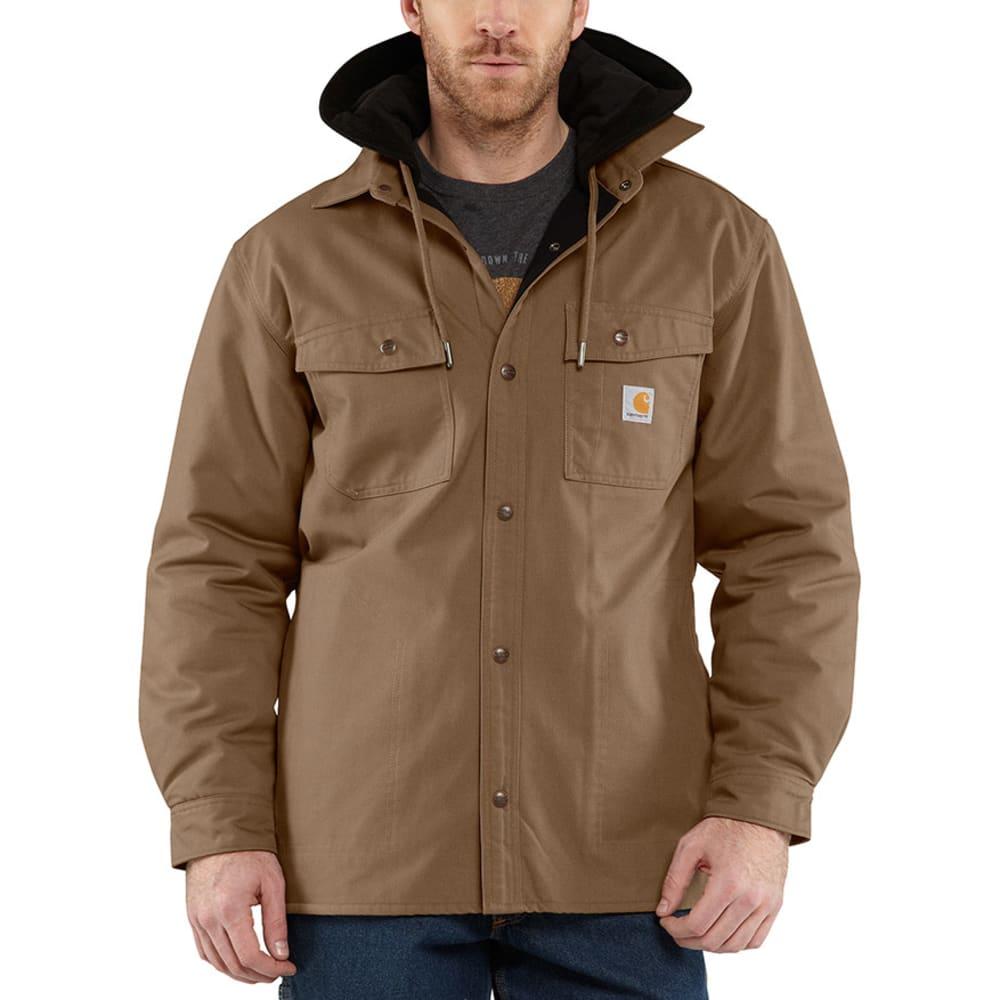 CARHARTT Men's Quick Duck Roane Hooded Shirt Jac - CANYON BROWN