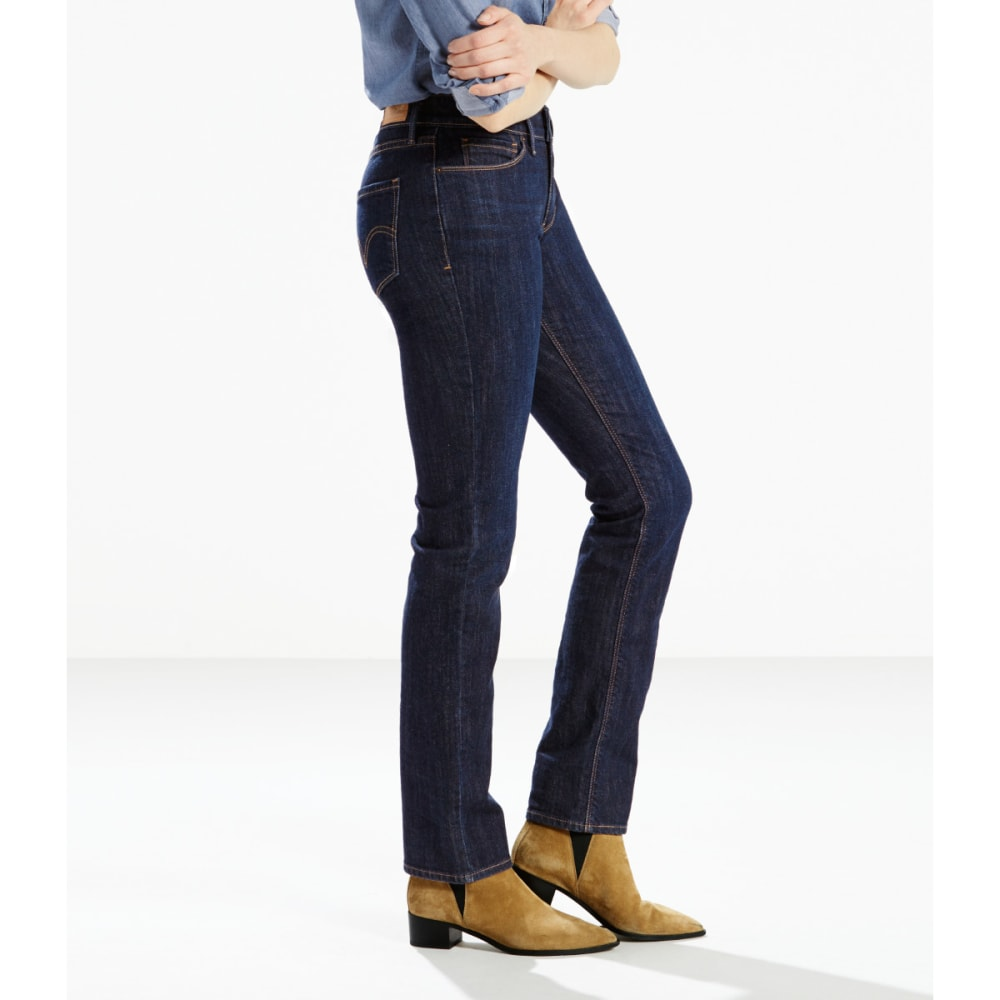 LEVI'S Women's 525 Straight Cut Jeans - 0056-BLUE SPRINGS