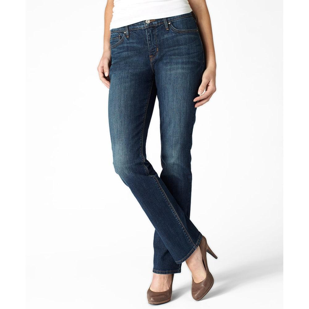 LEVI'S Women's 525 Straight Cut Jeans - 0028-SAPPHIRE
