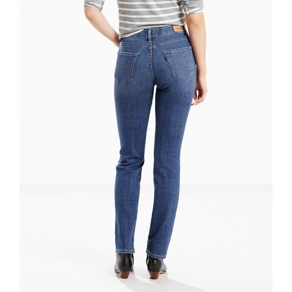 LEVI'S Women's 525 Straight Cut Jeans - 0048-MOODY BLUE