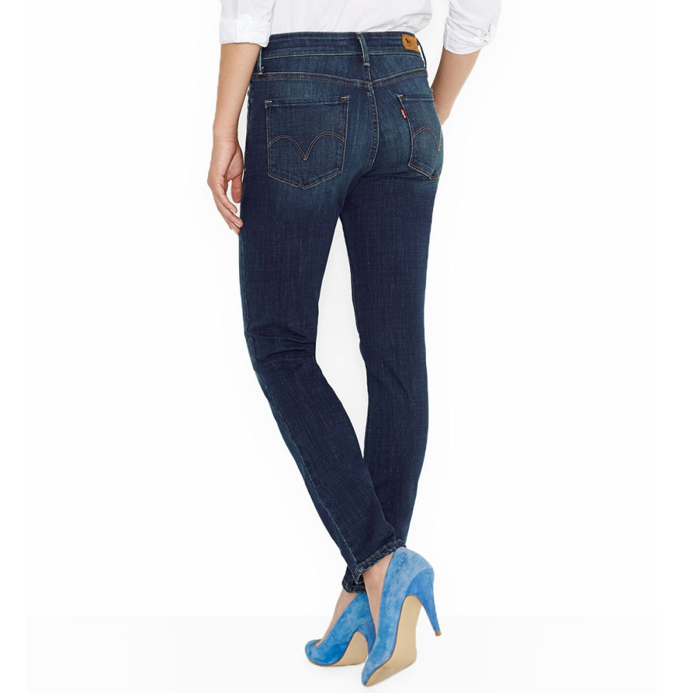 LEVI'S Women's Mid Rise Skinny Jeans - 0117-LUCK OUT WEST
