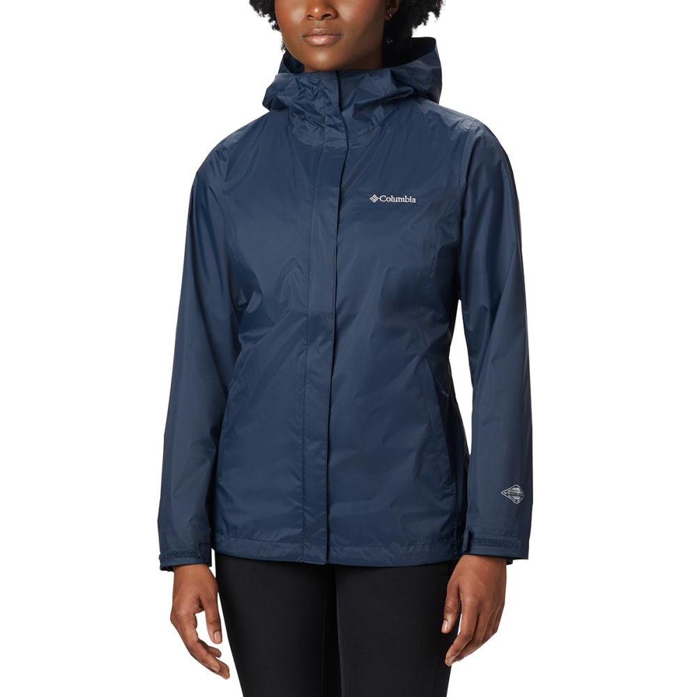 COLUMBIA Women's Arcadia Rain Jacket - 427-COLUMBIA NAVY