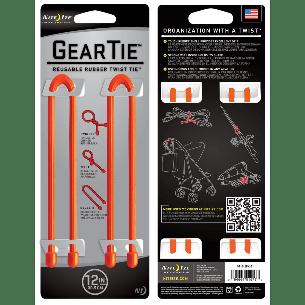 NITE IZE Gear Tie - BRIGHT ORANGE