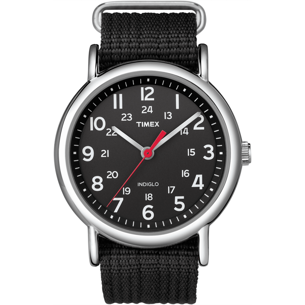 TIMEX Weekender Slip Through Watch - BLACK