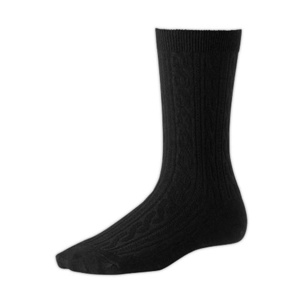 SMARTWOOL Women's Cable Socks - BLACK
