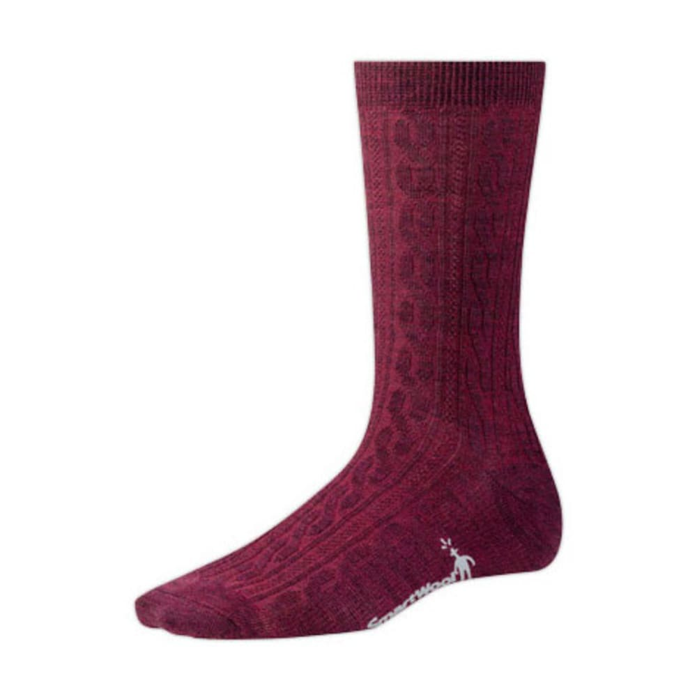 SMARTWOOL Women's Cable Socks - HEATHER STONE