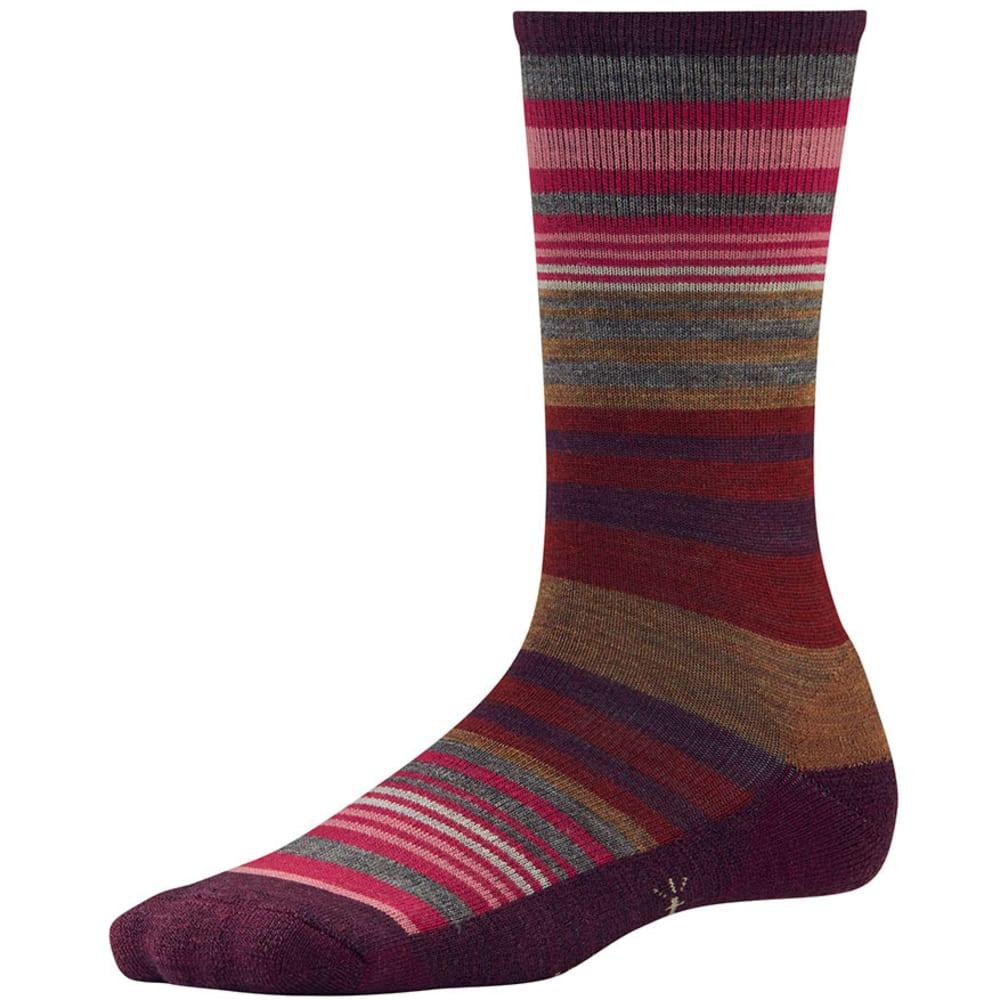 SMARTWOOL Women's Jovian Stripe Socks - AUBERGINE