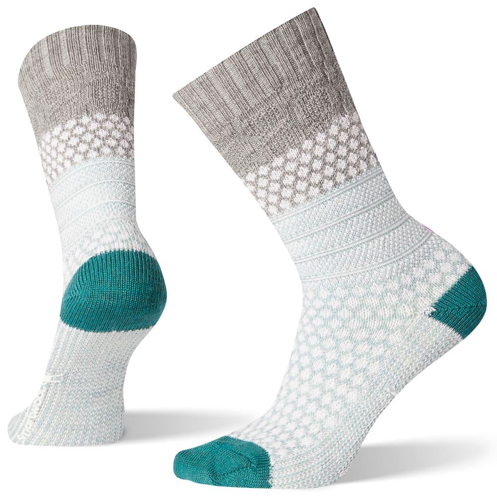 SMARTWOOL Women's Popcorn Cable Socks - LIGHT GREY - 039