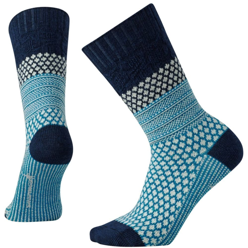 SMARTWOOL Women's Popcorn Cable Socks - DEEP NAVY-092