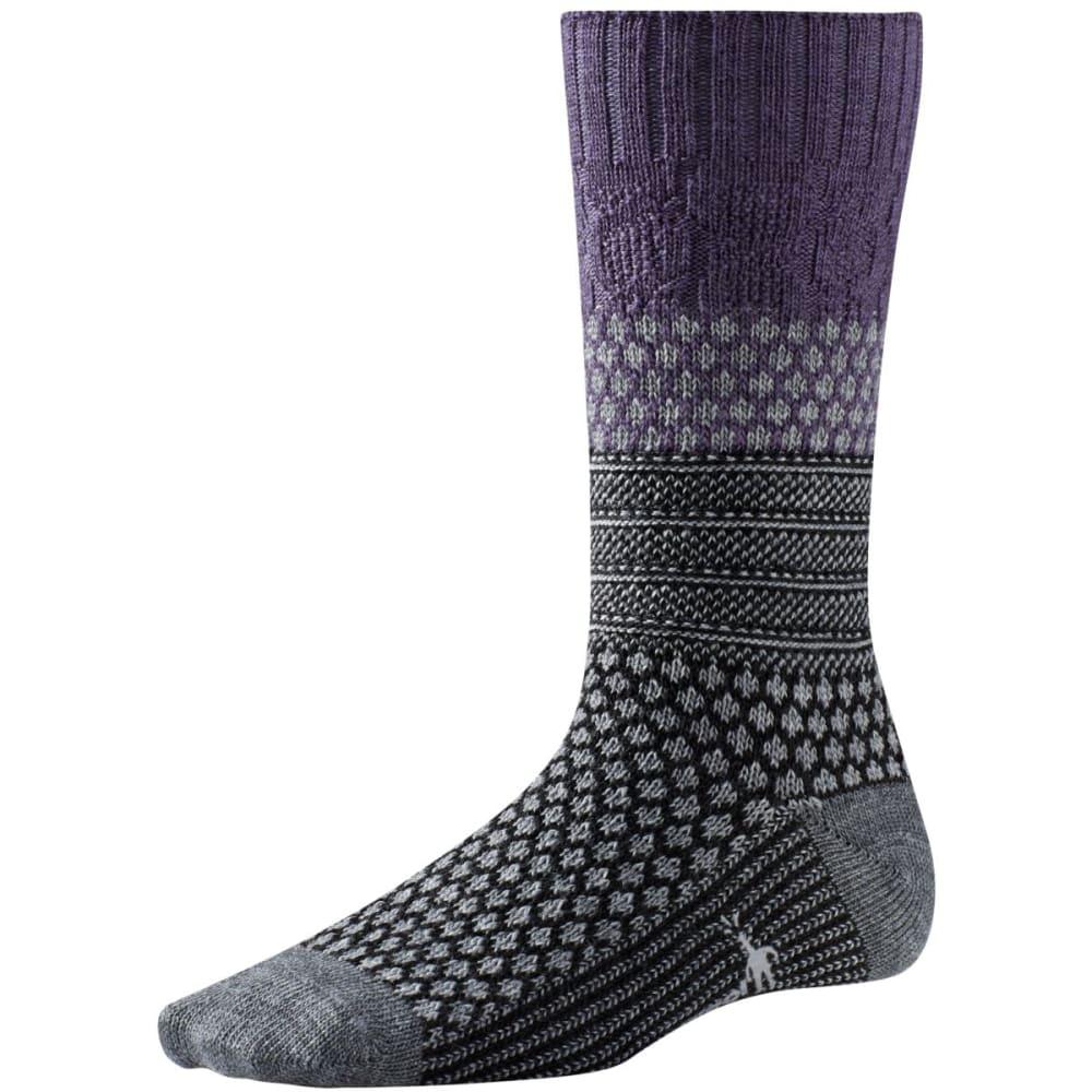 SMARTWOOL Women's Popcorn Cable Socks - DESERT PURPLE
