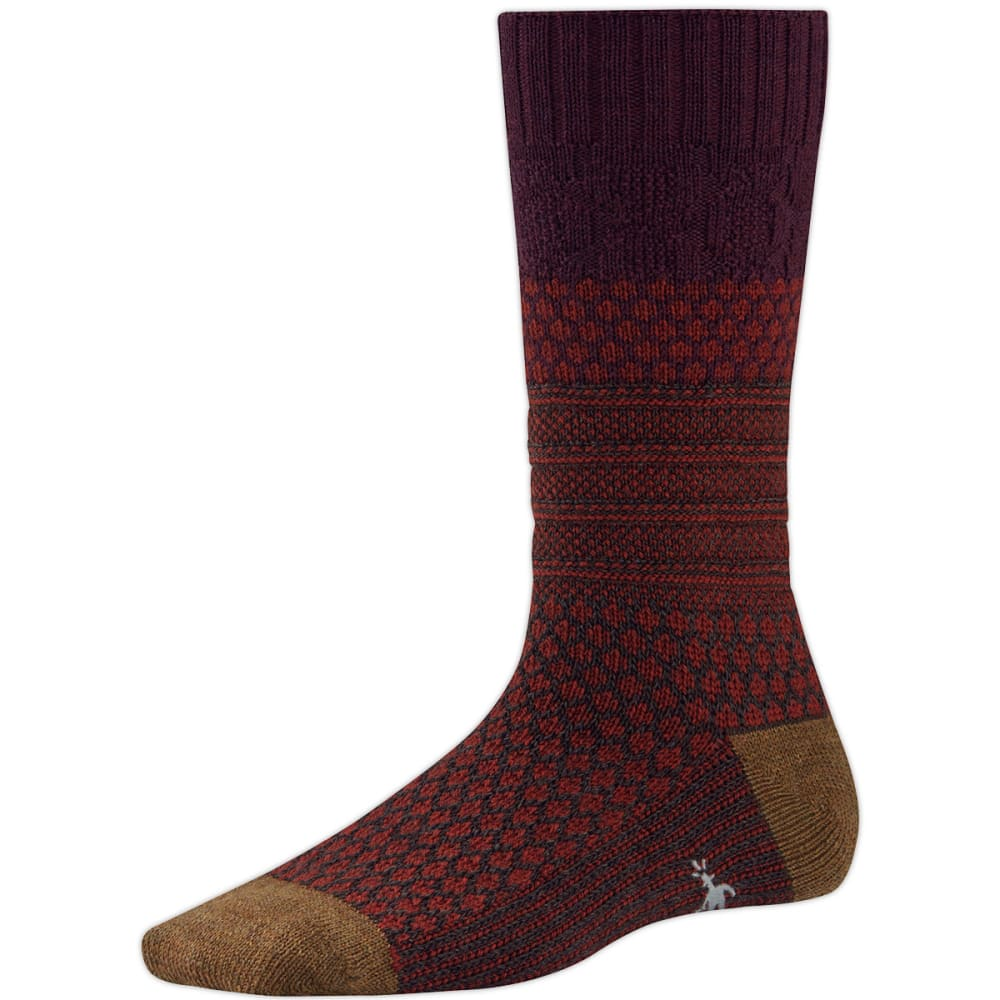 SMARTWOOL Women's Popcorn Cable Socks - AUBERGINE