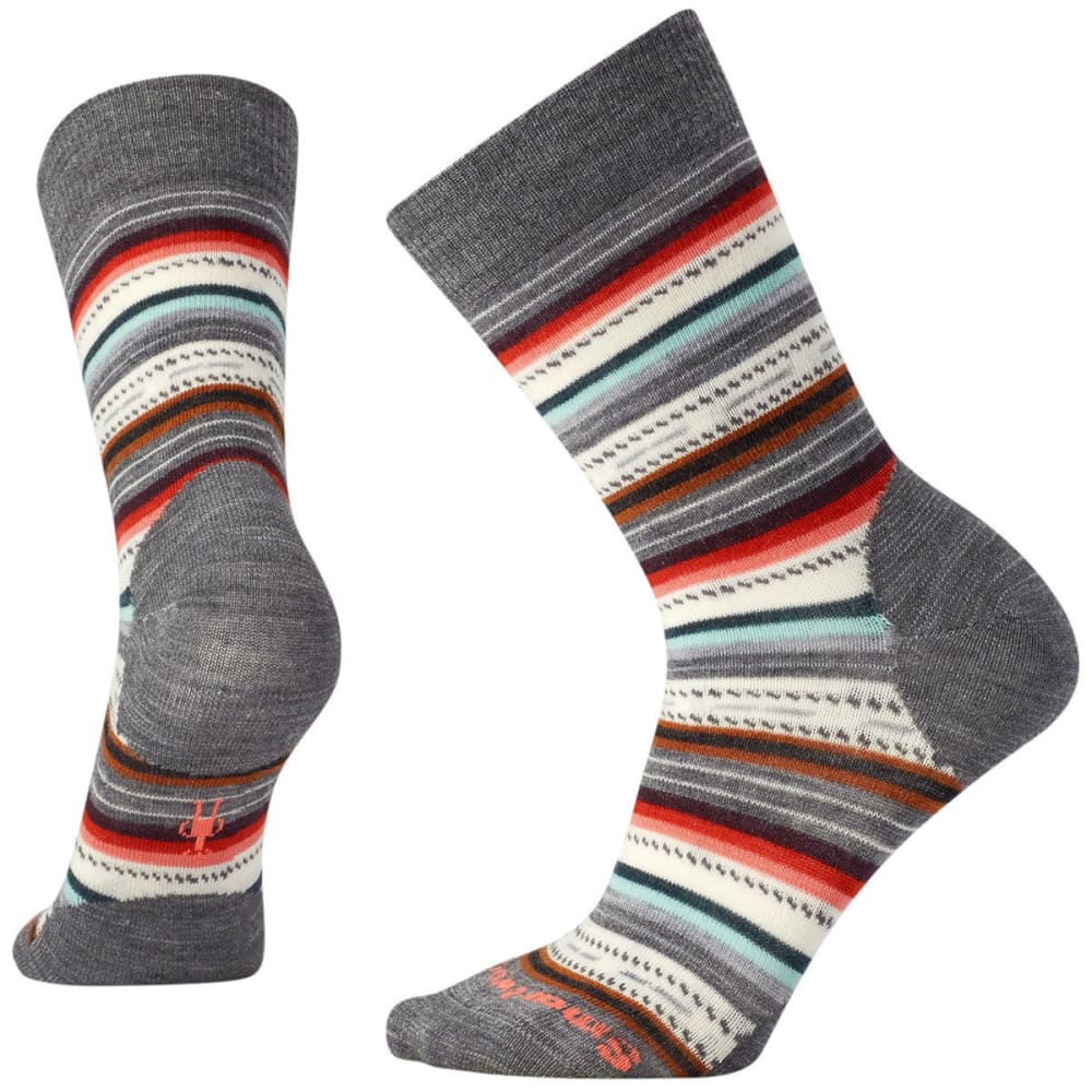 SMARTWOOL Margarita Socks - A05-MED GRY/BT CORAL