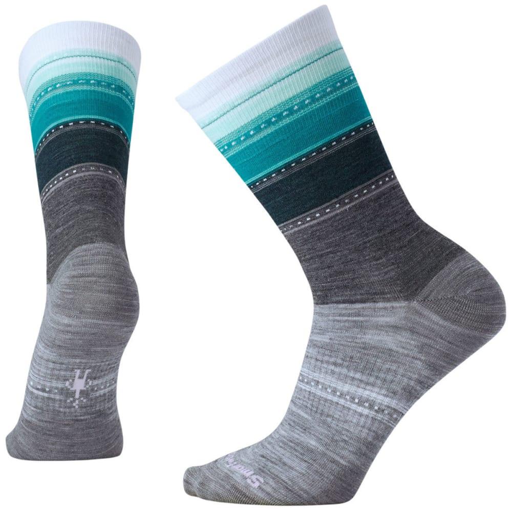 SMARTWOOL Women's Sulawesi Stripe Socks - A04-LT GRAY HTR