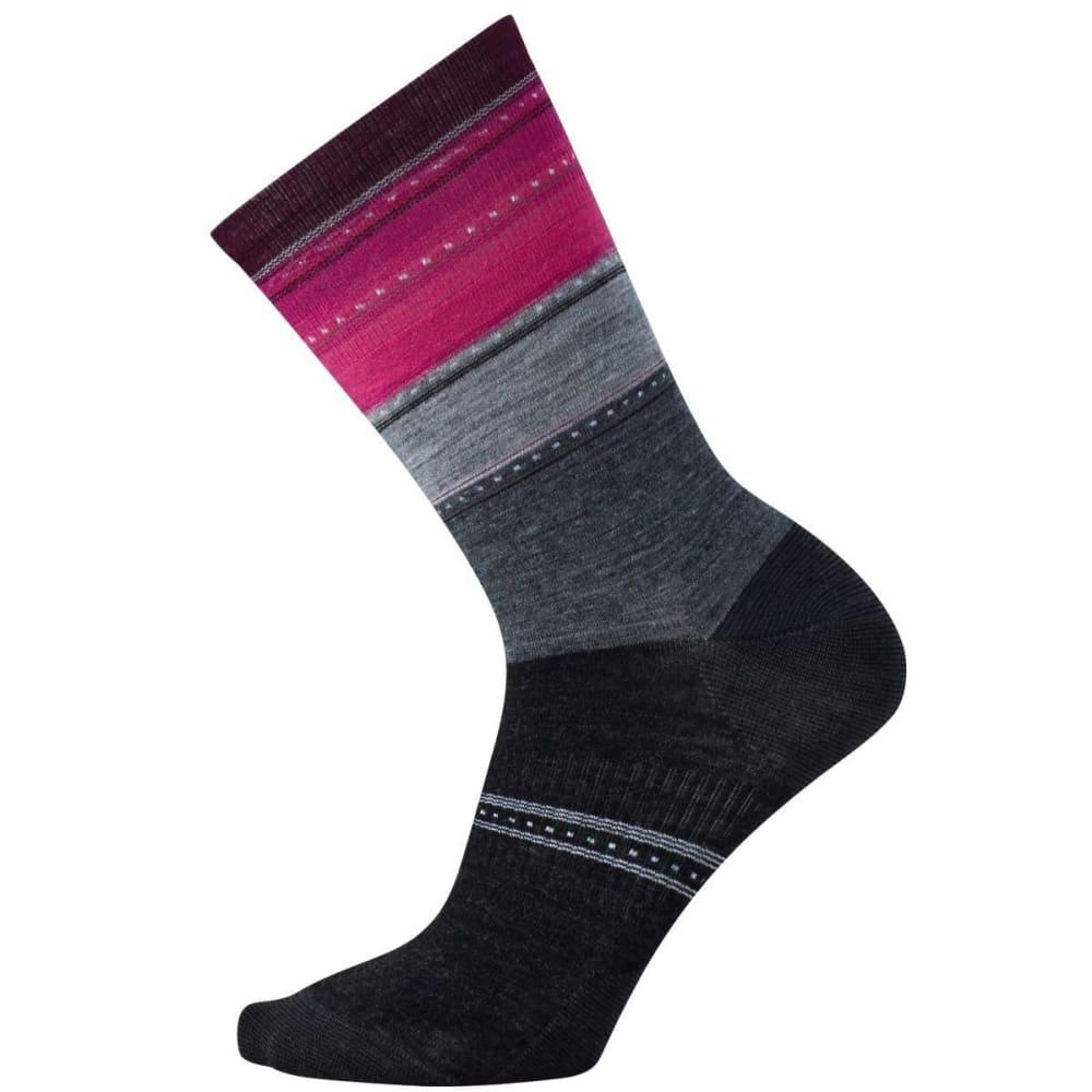 SMARTWOOL Women's Sulawesi Stripe Socks - MED GRY HTHR 715