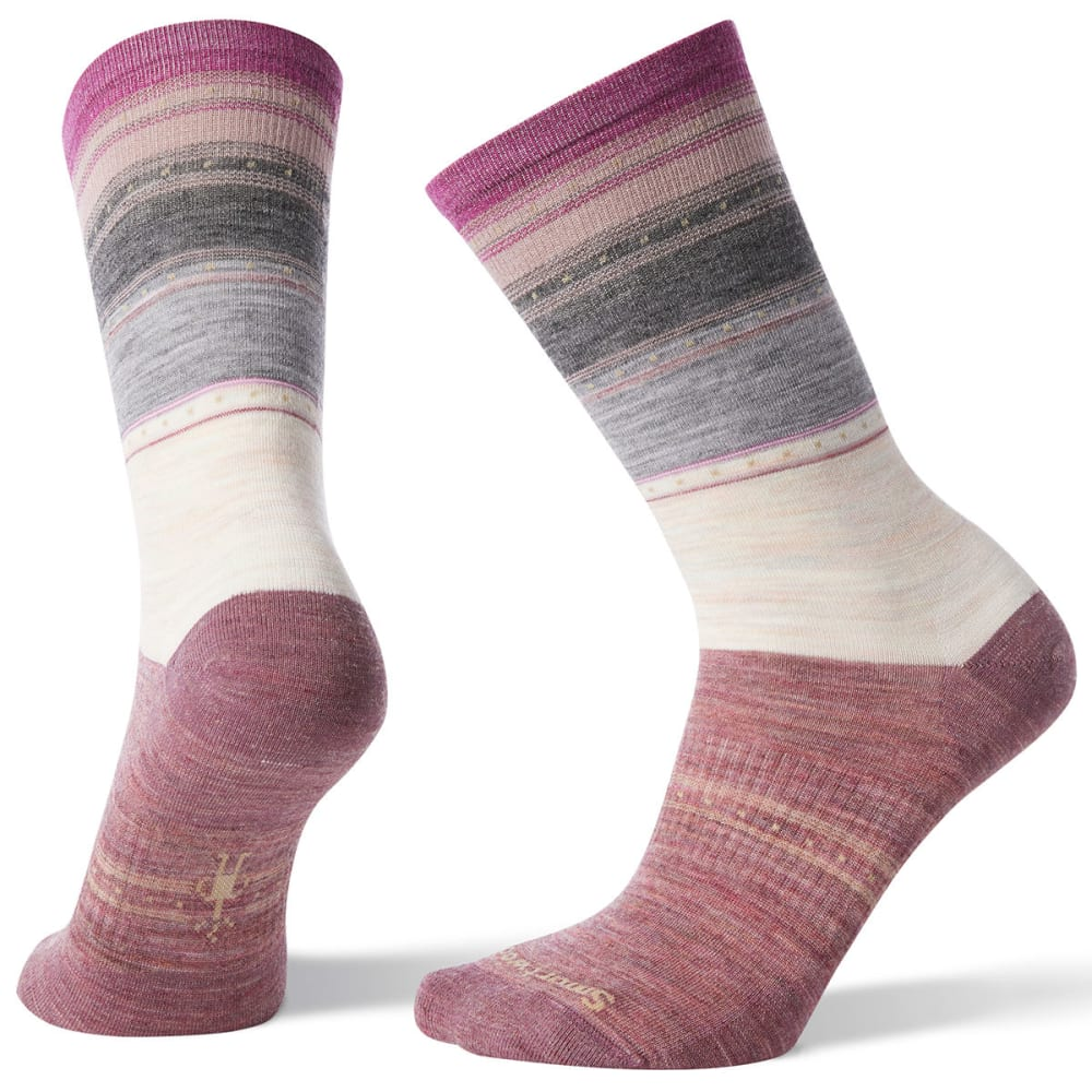 SMARTWOOL Women's Sulawesi Stripe Socks - A81-MOONBEAM